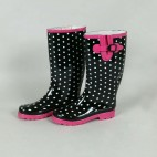 Scribble Adults - Ladies Wellingtons Black With